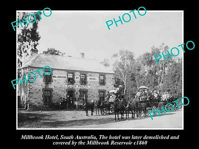 OLD HISTORIC PHOTO OF MILLBROOK SOUTH AUSTRALIA, THE MILLBROOK HOTEL c1860