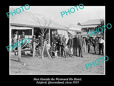 OLD LARGE HISTORICAL PHOTO OF ISISFORD QLD, VIEW OF WESTWARD HO HOTEL c1915