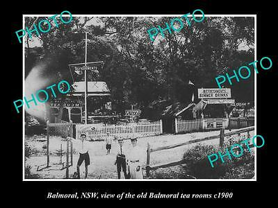 OLD LARGE HISTORICAL PHOTO OF BALMORAL NSW, THE BALMORAL TEA ROOMS c1900