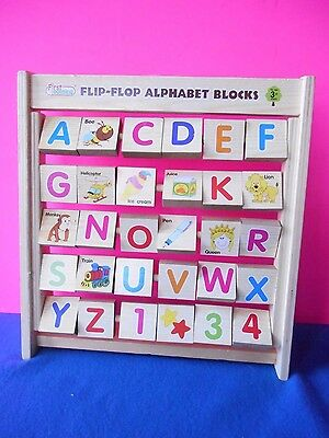 Fast Learning Flip-Flop Alphabet Blocks with Pictures Wooden