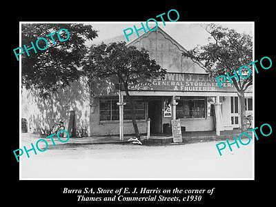 Old Large Historic Photo Of Burra South Australia, The Harris General Store 1930
