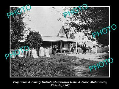OLD LARGE HISTORICAL PHOTO OF MOLESWORTH VICTORIA, VIEW OF THE HOTEL c1905