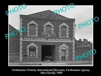 Old Large Historic Photo Of Castlemaine Vic, International Harvester Agency 1940