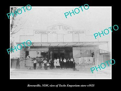 OLD LARGE HISTORICAL PHOTO OF BOWRAVILLE NSW, VIEW OF TUCKS EMPORIUM STORE c1925