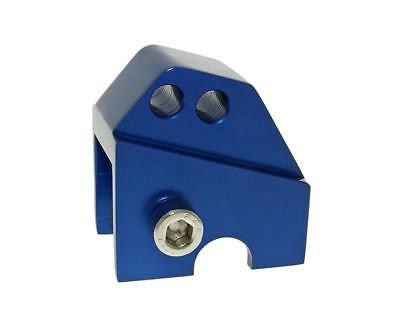 Riser kit CNC 2 hole blue - APRILIA SR50 R from 05 (Piaggio engine)