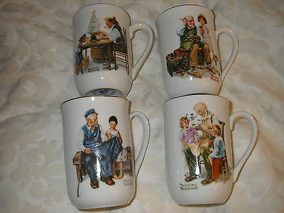 Norman Rockwell Museum Cups - 4 of them