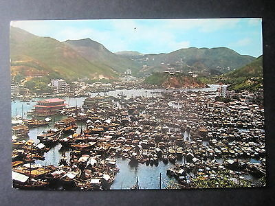 Aberdeen Harbour, Honk Kong. Posted 1964.