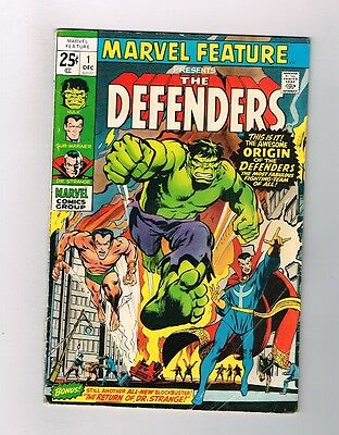 MARVEL FEATURE #1 Grade 4.5 Bronze Age key issue: 1st DEFENDERS appearance!