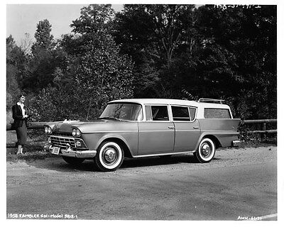 1958 AMC Rambler Six Station Wagon ORIGINAL Factory Photo oad7991-LB2GJT