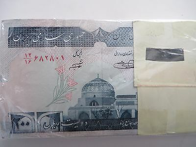 50 x 200  IRAN Rials, banknotes, Uncirculated Currency Central Bank