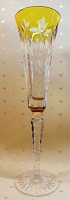 """Pair Faberge """"grand Palais Royale"""" Gold Cut To Clear Champagne Flutes, Marked"""