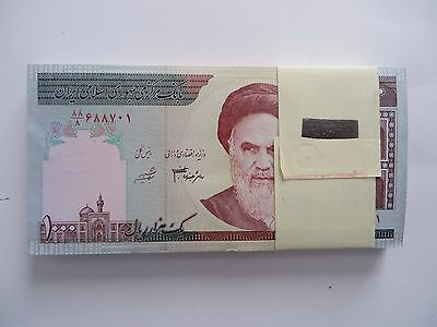 50 x 1000  IRAN Rials, banknotes, Uncirculated Currency Central Bank