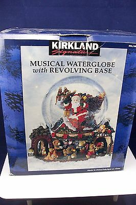 "New Kirkland Musical Waterglobe Revolving Base ""chestnuts Roasting"" Mint In Box"