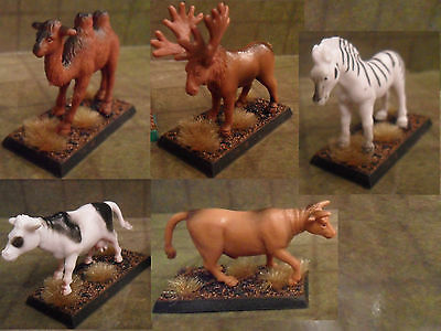 25mm / 28mm Painted Animal Set. Pathfinder Dnd Roleplaying. Minees