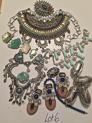 lot 6 Broken Jewellery Vintage Diamanté Crystal Shabby Chic Crafts Up Cycle