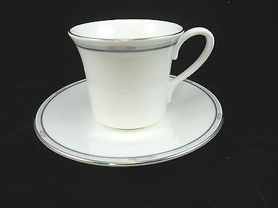 Royal Doulton Simplicity Flat Cup and Saucer - Lot of 3 Sets