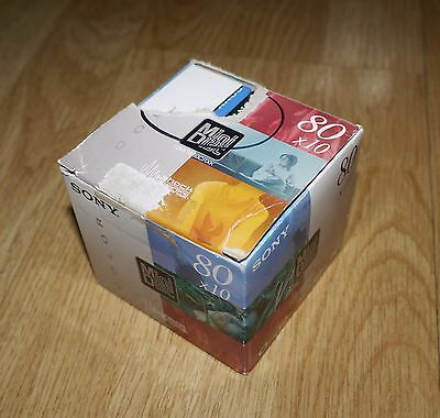 Pack of 10 Sony Color Blank Mini Disc 80 Mins - Colour Minidisc - BRAND NEW