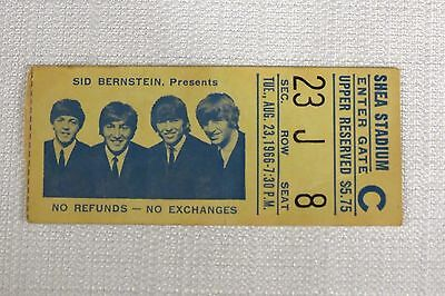 Beatles Original 1966 Concert Ticket Stub ~ Shea Stadium Nyc Rare & Scarce!!