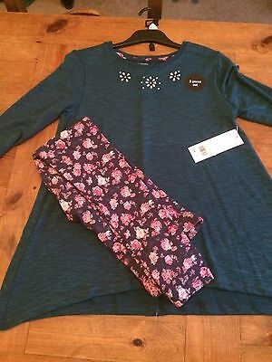 BNWT Two Piece Girls Top And Leggings Set Age 11-12 Yrs