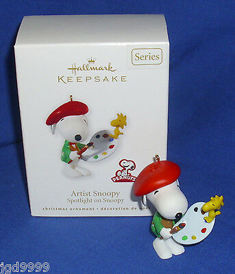 Hallmark Peanuts Series Ornament Spotlight on Snoopy #13 2010 Artist Woodstock