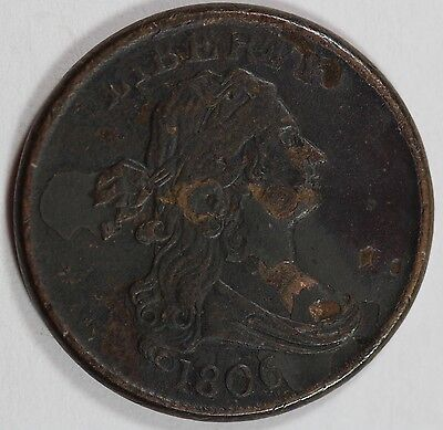 1806 Half Cent! Xf Details! ½ C! Us Coin Lot #906