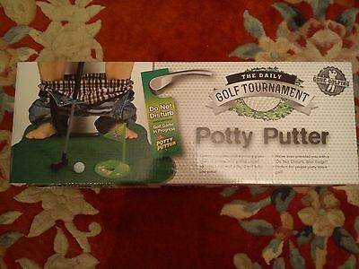 Potty Putter Mini Golf Game Putting Novelty Gift Great Fun Complete Free P&P