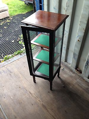 Antique Edwardian Glass Display Cabinet NO key But Lovely Piece Of Furniture