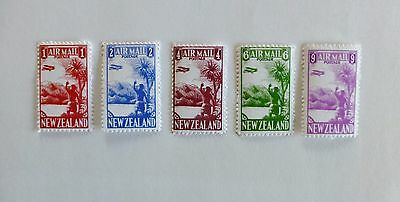 Gerald King Complete set of 1925 NEW ZEALAND AIRMAIL Cinderella Stamps - RARE