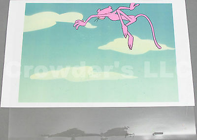 Pink Panther Cartoon Series Animation Cel Cell / Sketch / Background - Jumping