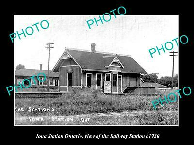 Old Historic Photo Of Iona Station Ontario Canada, The Railway Station 1930