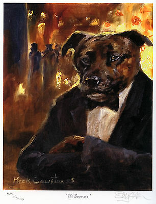 STAFFORDSHIRE BULL TERRIER DOG LIMITED EDITION PRINT - by the late Mick Cawston