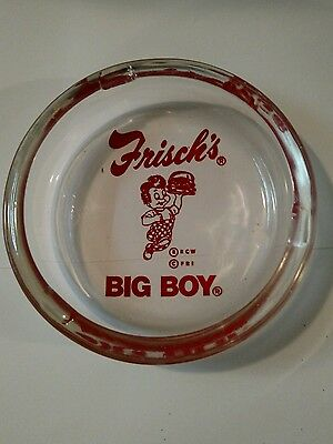 Vintage advertising Frisch's BIG BOY RED ashtray
