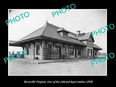 Old Large Historic Photo Of Berryville Virginia, Railroad Depot Station 1920 2