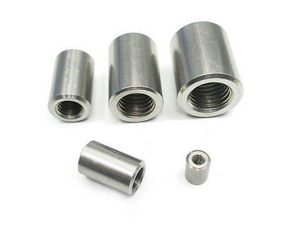 Select Size M4 - M10 Round Threaded Rod Coupling Nuts 304 Stainless Steel