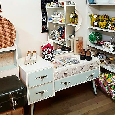 MID-CENTURY DRESSING TABLE atomic vintage retro 1950s 1960s matching BED HEADS