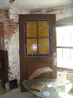 Antique Stained Glass Church Door