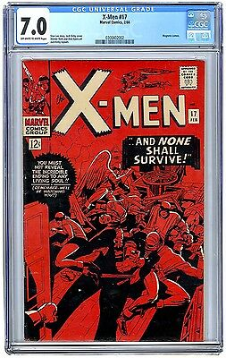 X-Men #17 CGC 7.0 1966 - Last Jack Kirby Issue