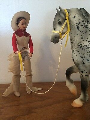 Yellow /white HALTER & LEAD TACK  BREYER,  PETER STONE, TRADITIONAL model horses