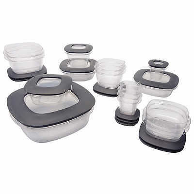 RUBBERMAID PREMIER 30 Piece Food Storage Set with Easy Find Lids New