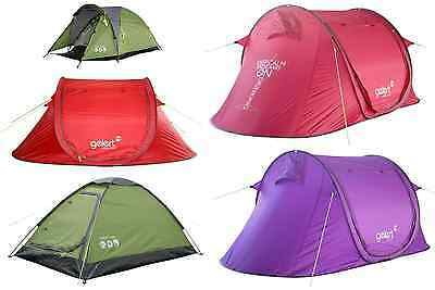 Various GELERT Tents 2-Berth/Person Scout/Camping/Festival Pop-Up *FROM £12*