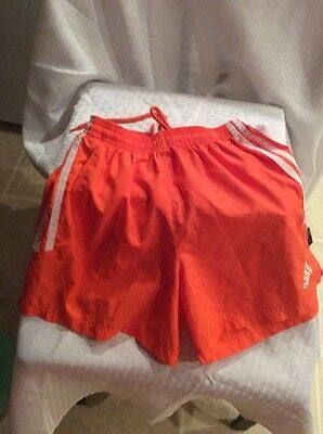 EUC Adidas Climalite Kids Unisex Athletic Shorts Size L 14-16 Color Orange