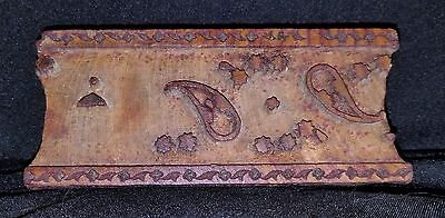 Early 1900's Hand Carved Wood Architectural Plaster Pattern Accent Mold 2