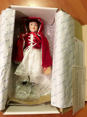 "The Danbury Mint Storybook Doll ""Little Red Riding Hood"" Porcelain 11"" Doll MIB"