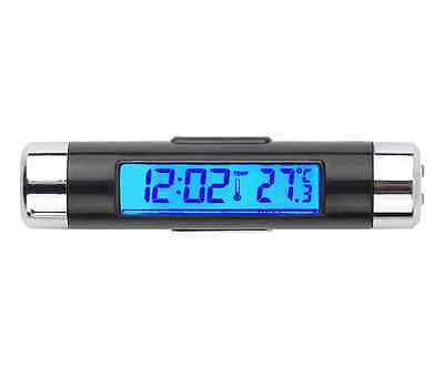 2in1 LED Digital Car Air Vent Clock Thermometer Temperature Auto LCD Backlight K