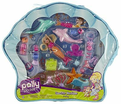 Mattel M4055 Polly Pocket Sea Chic Boutique Mermaid Polly Doll & Accessory Bag
