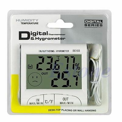 Hot LCD Digital Outdoor Indoor Weather Thermometer Hygrometer Humidity Meter C/F