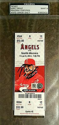 Mike Trout Signed MLB Debut First Game Ticket Stub AUTO 7/8/11 PSA/DNA Mint 9