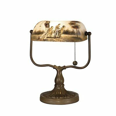 """Dale Tiffany 10164/417 Antique Bronze 17"""" Golf Handale Table Lamp with 1 Light"""