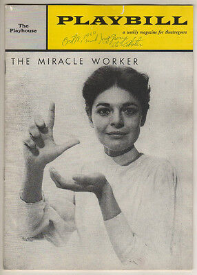 "Anne Bancroft & Patty Duke  ""The Miracle Worker""  Playbill 1960"