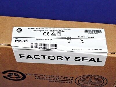 FACTORY SEALED Allen Bradley 1756-IT6I /A Isolated Thermocouple/mV Input Module